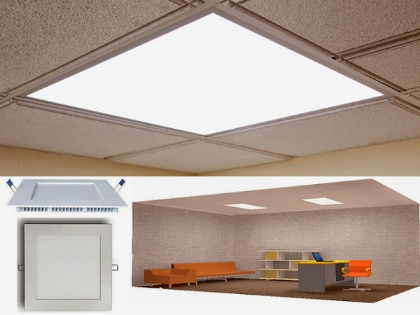 LED Panel Light fixture at office
