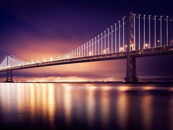bay bridge led light sculpture