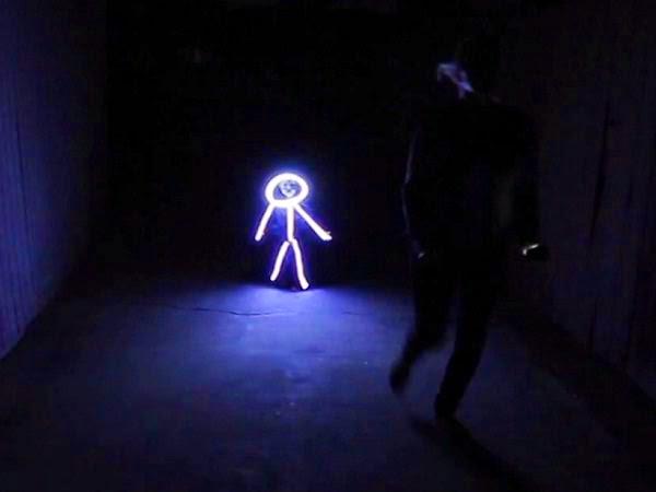 baby's glowing stick figure Halloween costume