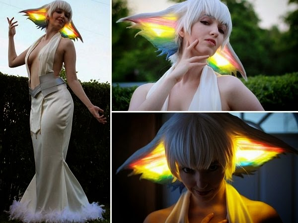 Ragyo Kiryuin cosplay wig infused with LED lights