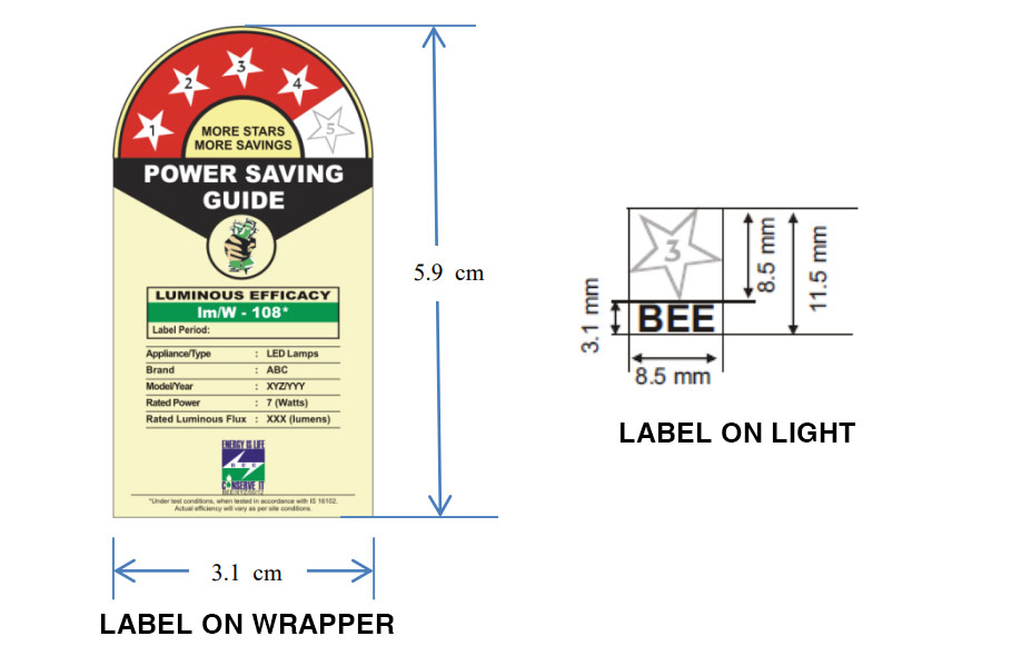 BEE Star Rating Label Guide for LED Light